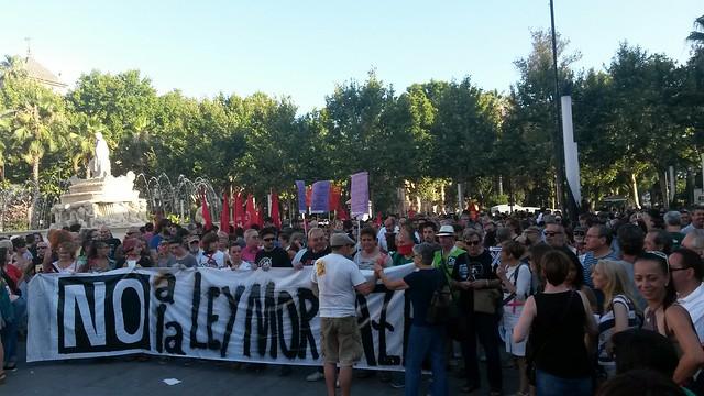 Concentración en Sevilla contra la #LeyMordaza