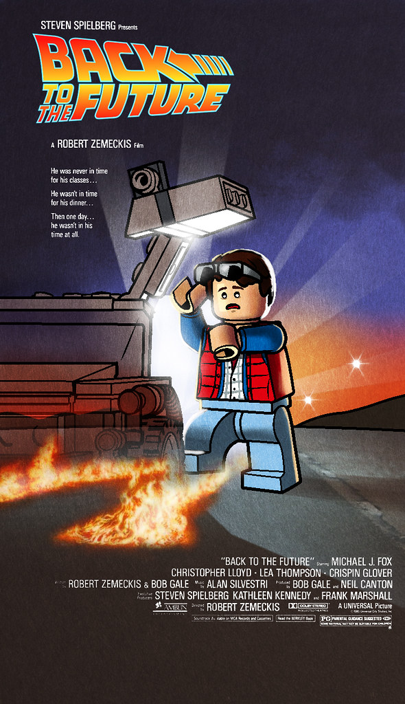 back to the future lego ized movie posters made for brick flickr. Black Bedroom Furniture Sets. Home Design Ideas