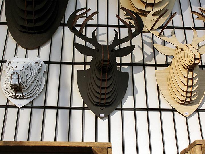 3D Artwood dierenkoppen