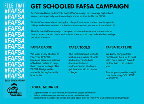 File that FAFSA Campaign One Pager