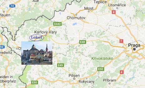Mapa de situación de Loket en República Checa