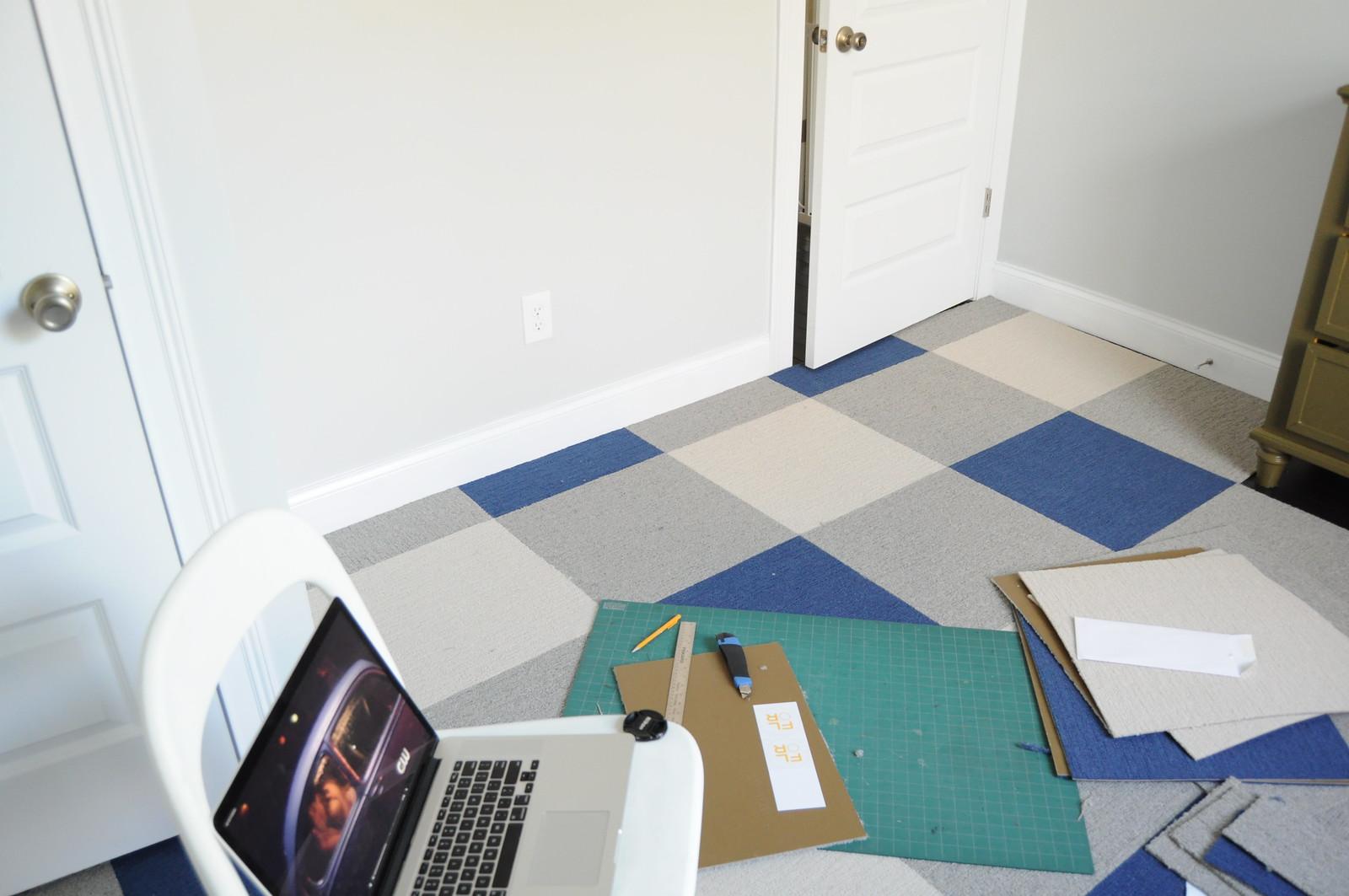 Buffalo Plaid Carpet Tile Floor