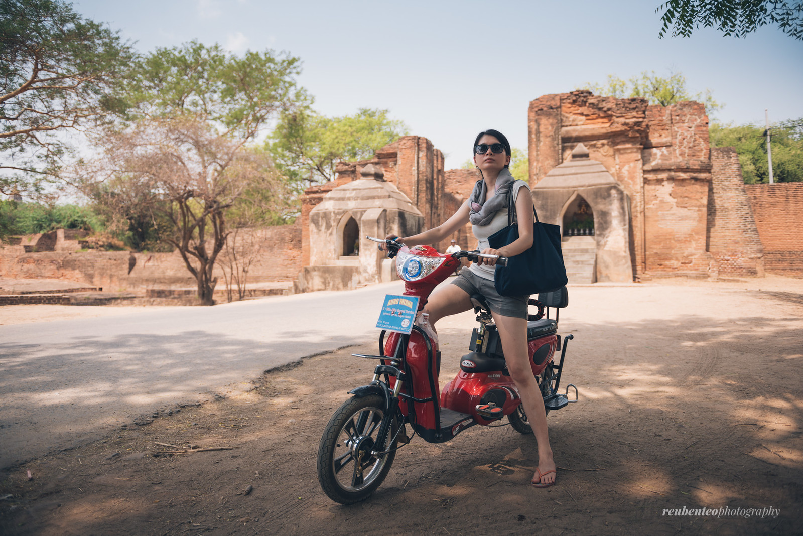 E-bike in Bagan