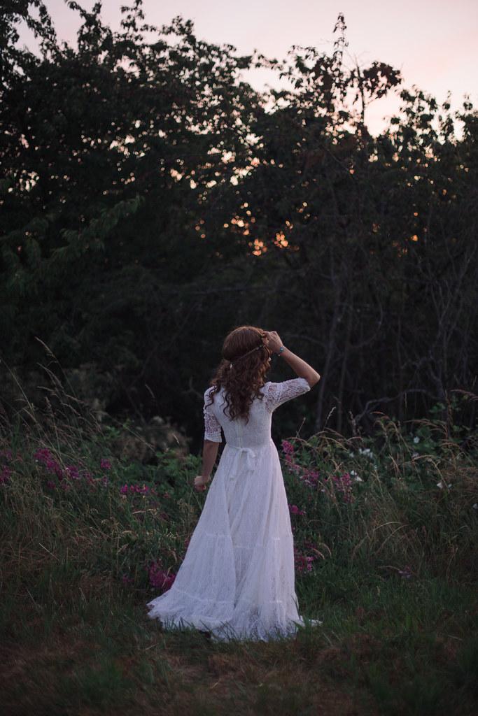 Vintage Gunne Sax Wedding Dress, Summer Solstice Wedding Shoot