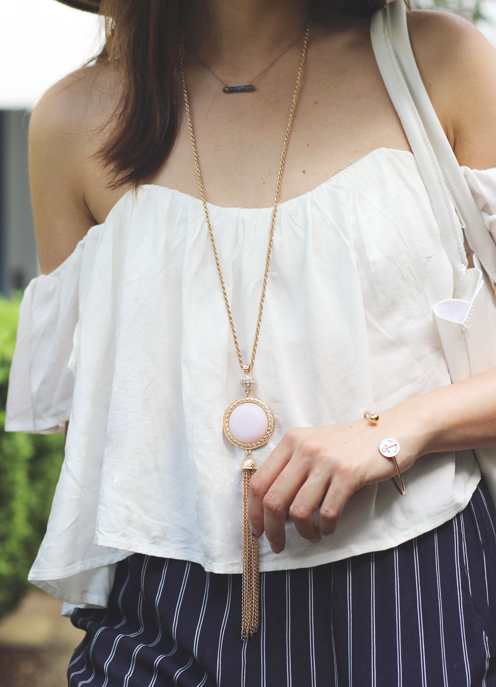 Marleylilly tote bag and monogram sunhat review plus giveaway of Marleylilly pendant necklace