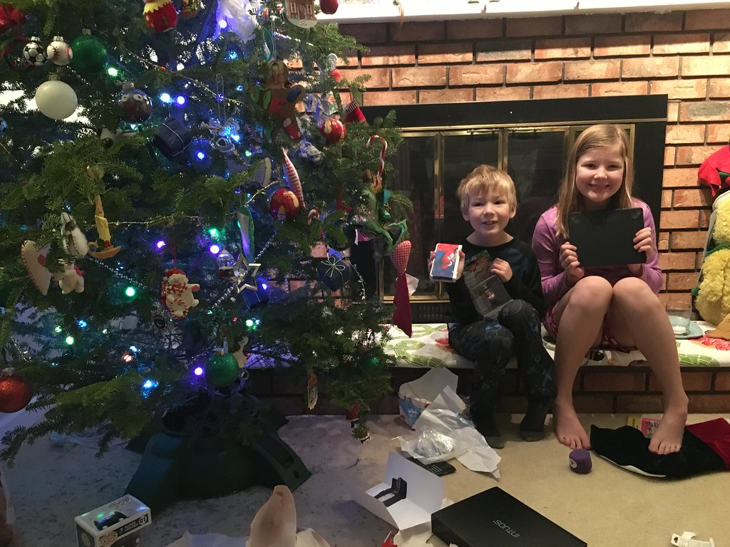 Happy kids on Christmas morning | Amber Strocel | Flickr