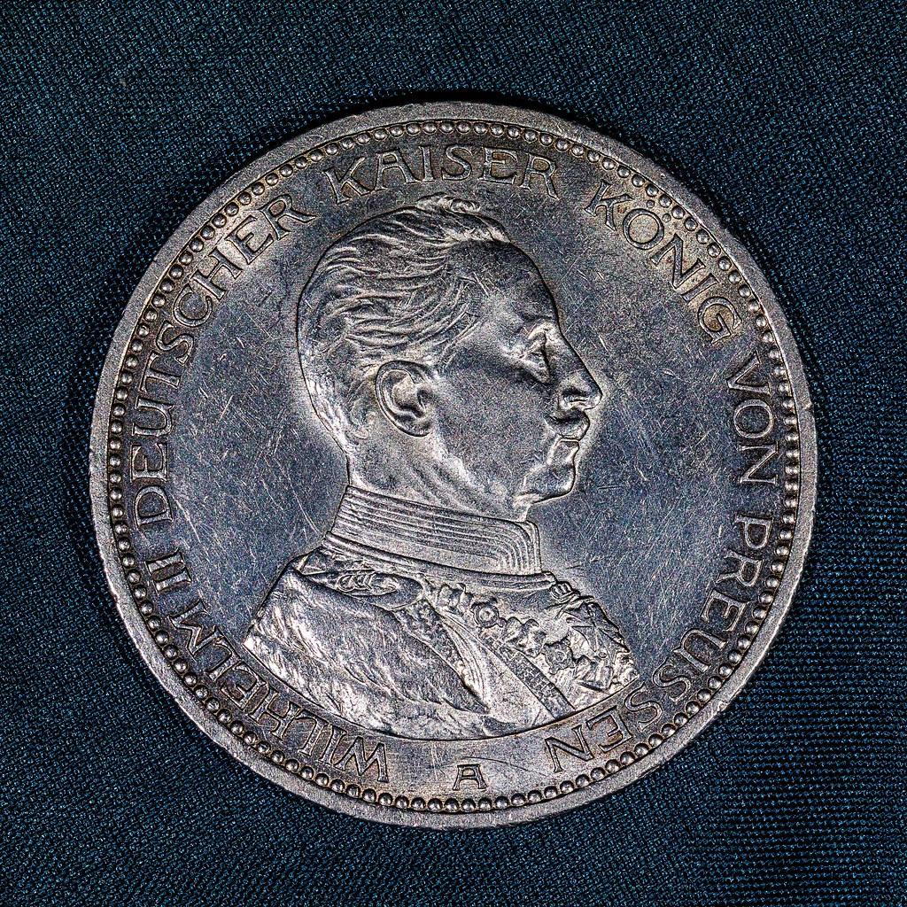 5 Mark Münze Aus 1913 Bildseite Bildseite Einer 5 Mark M Flickr