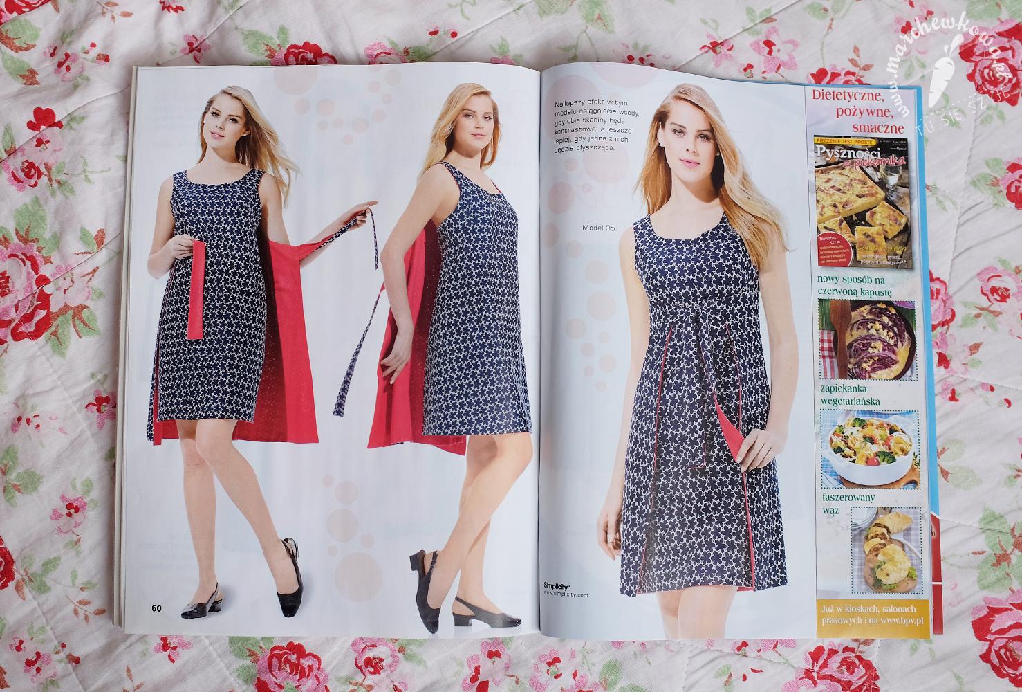 Anna Moda na szycie, Siplicity 1356, 8125, 1960s, retro, vintage dress, pattern