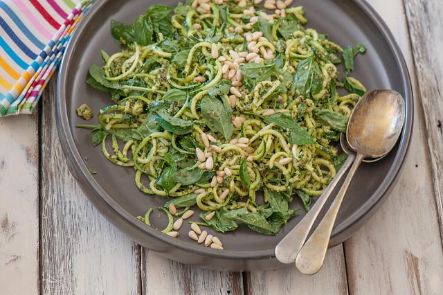 Zucchini 'Noodle' & Pesto Salad-2