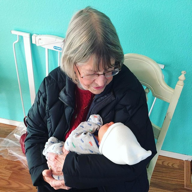 Baby M. with great-grandma Shirley.