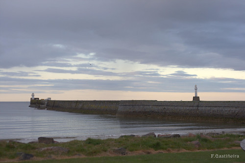 Aberdeen's beach and harbour