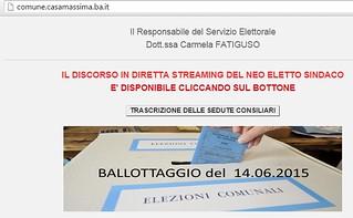 Casamassima- Il discorso video integrale di Cessa sindaco lo trovate anche su Casamassimaweb.it