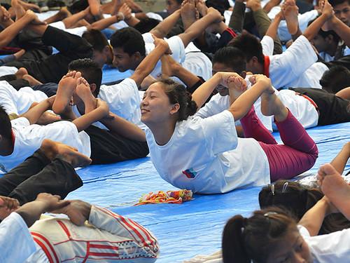 В Індії в День йоги вправами одночасно зайнялися майже 36 тисяч осіб