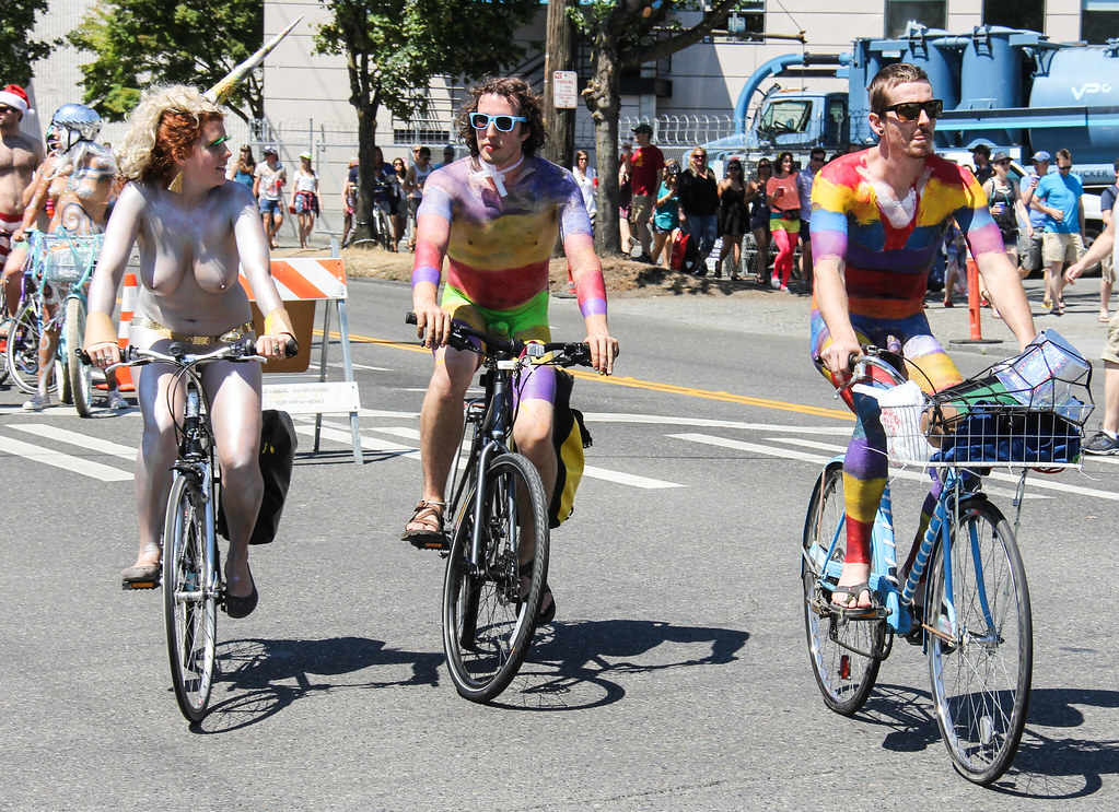 Seattle Fremont Solstice Parade 2015 - Naked Cyclists - a photo on Flickriver