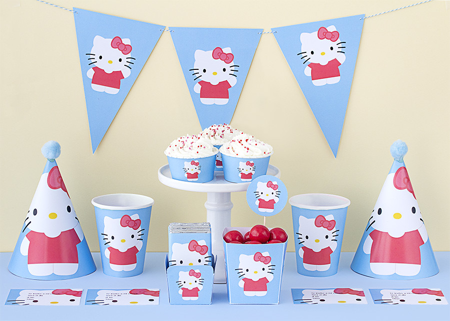Imprimible gratis: kit de fiesta de Hello Kitty | Postreadicción ...