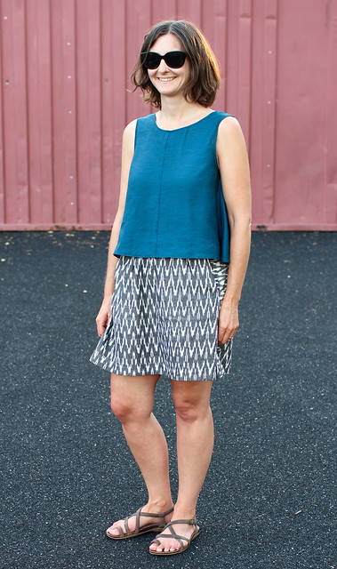 Papercut Sway Dress (as top) & Liesl & Co Everyday Skirt