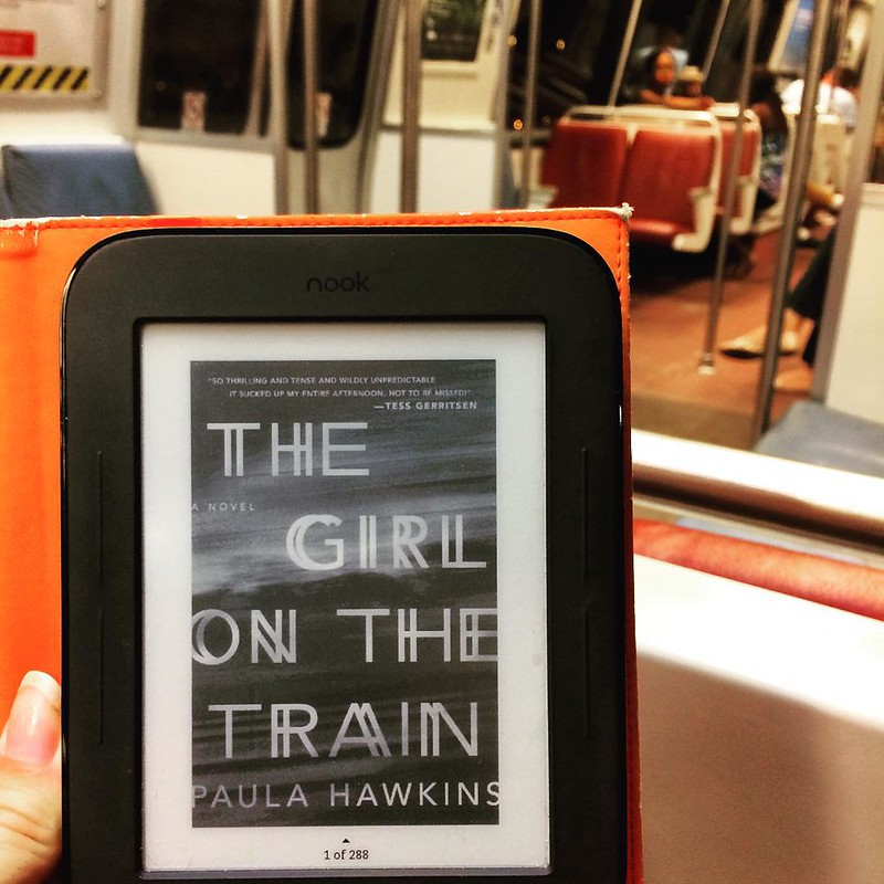 The girl on the train ^2 #girlonthetrain #metro #washingtondc #washington #lifeimitatingart #book