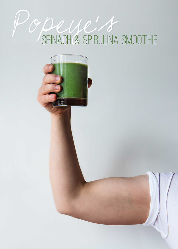 Popeye's Spinach & Spirulina Smoothie (vegan, gluten-free) | Will Cook For Friends