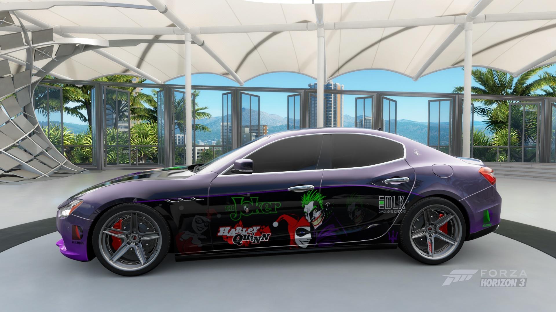Design car contest - Ryn0s3r1 2014 Maserati Ghibli S Q4 Joker Harley Quinn File Jhq Love Fantasy Livery