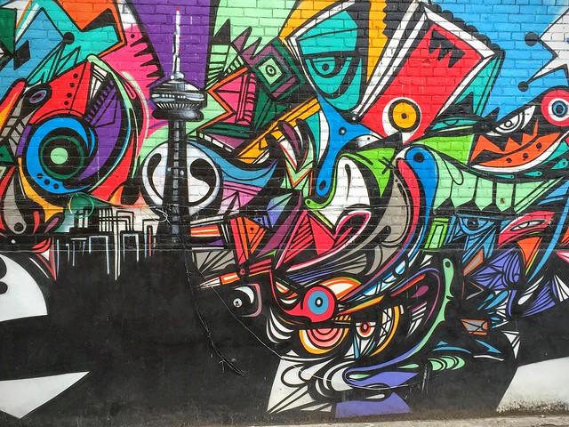 La Tour CN version Street Art