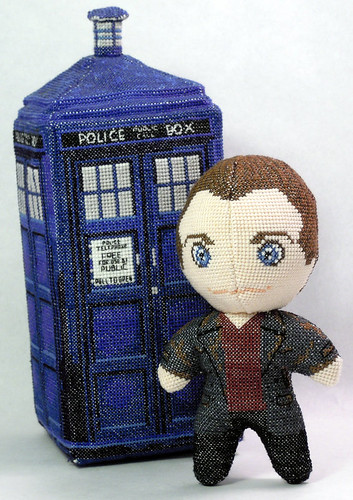 Doctor Who 3D cross stitch patterns by Robins Design - Christopher Eccleston