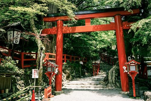 The Torii Gate (鳥居) of Kifune Shrine (貴船神社) in Kibune (貴船)…  Flickr