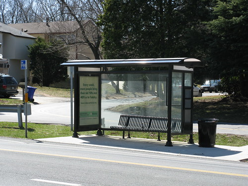 Montgomery County Maryland bus shelter, Laytonia_-2008_03_17_-_EB_Bus_Shelter