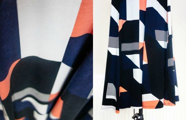 close up of wallis geometric dress