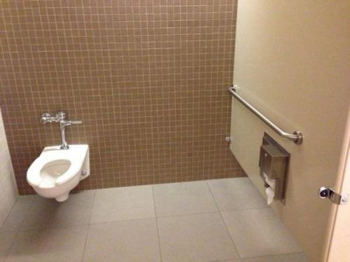 foto graciosa de baño con papel higiénico muy muy lejano