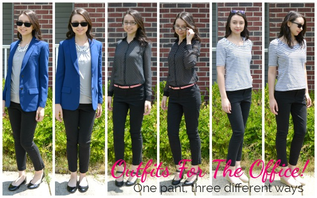 Outfits for the Office: One Pant, Three Different Ways!