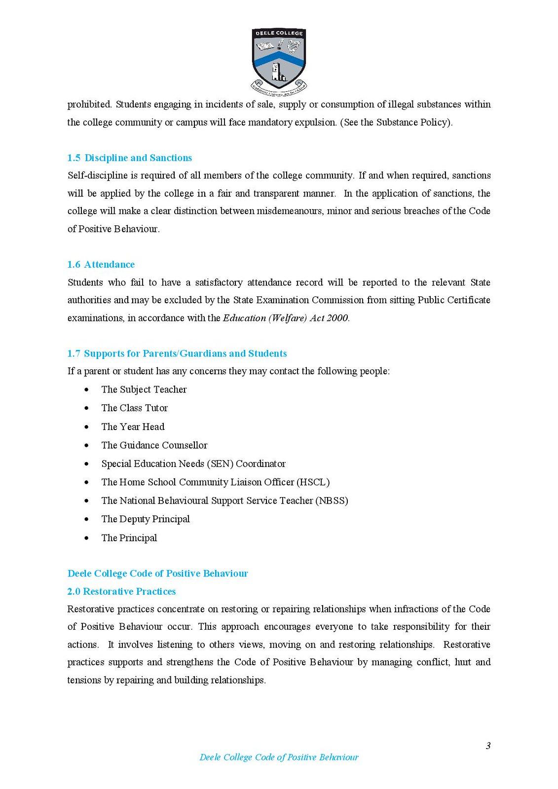 Deele College Code of Positive Behaviour Booklet 2016-page-003