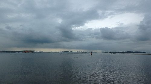 Rainy weather from Pulau Semakau