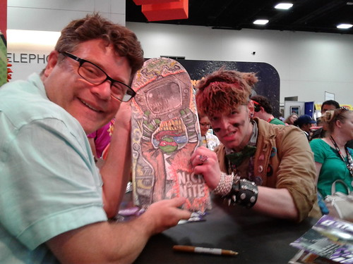 "SDCC 2016 ::Sean Astin with Tokka & ""SAY ANYTHING"" skateboard 