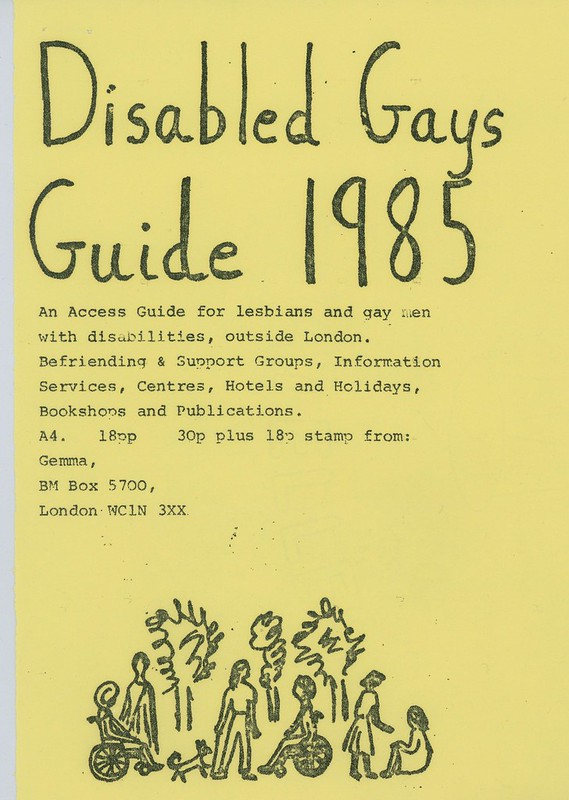 Disabled Gays Guide, 1985