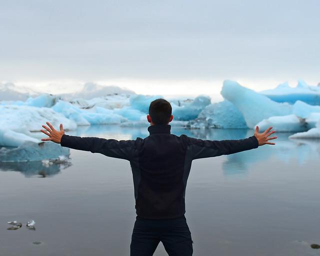 Miguel Egido, de Diario de un Mentiroso en Islandia y la laguna de Jökulsárlón