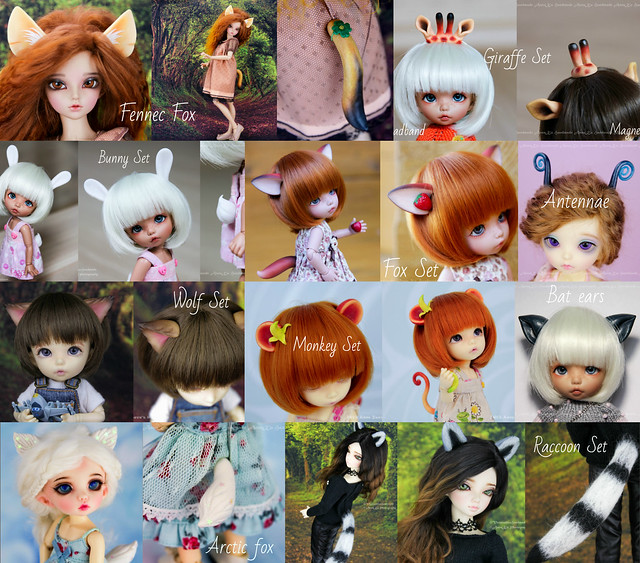 Ears & tails SETs collage