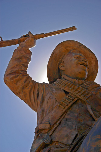 Pancho Villa rides atop the the Bufa, the highest point in Zacatecas, Mexico