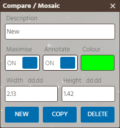 Compare / Mosaic Reticules Form