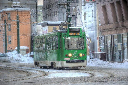 Tramcars at Sapporo on DEC 29, 2016 vol01 (20)