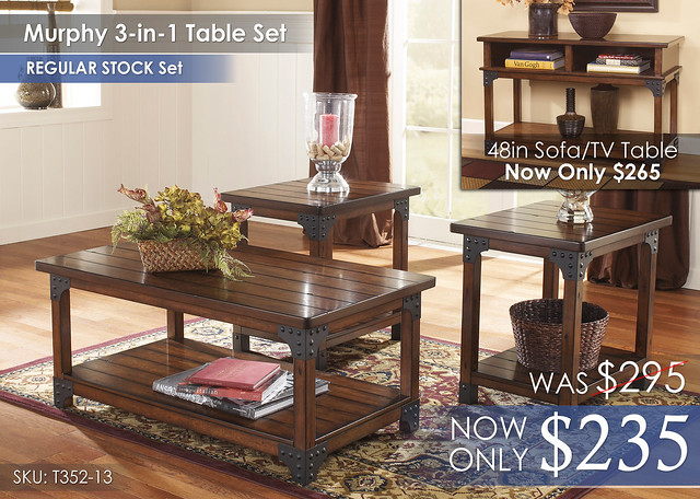 Murphy 3-in-1 Table Set T352-13