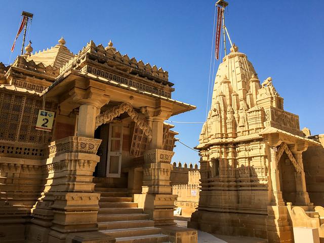 Lodurva Jain temple, Jaisalmer, India ジャイサルメール ロアーバのジャイナ教寺院外観