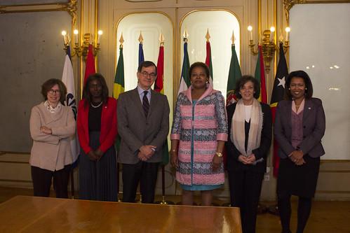 Secretária Executiva recebe delegação da Fundação Gulbenkian