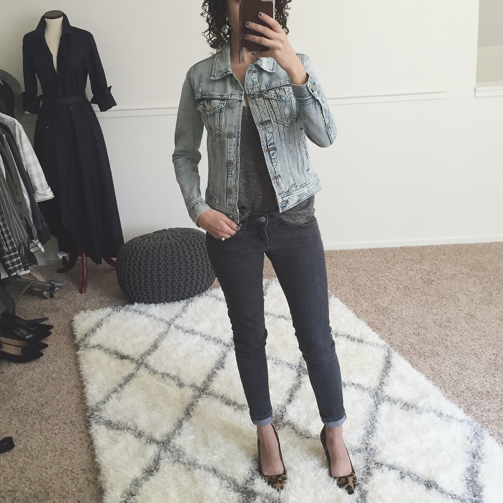Fit Review Friday – J.Crew Denim Jackets in Size Petite XXXS (& Comparison to AEO Version)