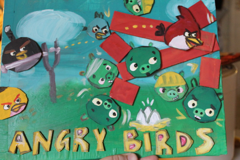 angry birds cardboard cut outs