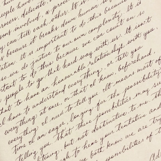 Super Speedy Vintage Handwriting With An Oblique Pen Oh Ho