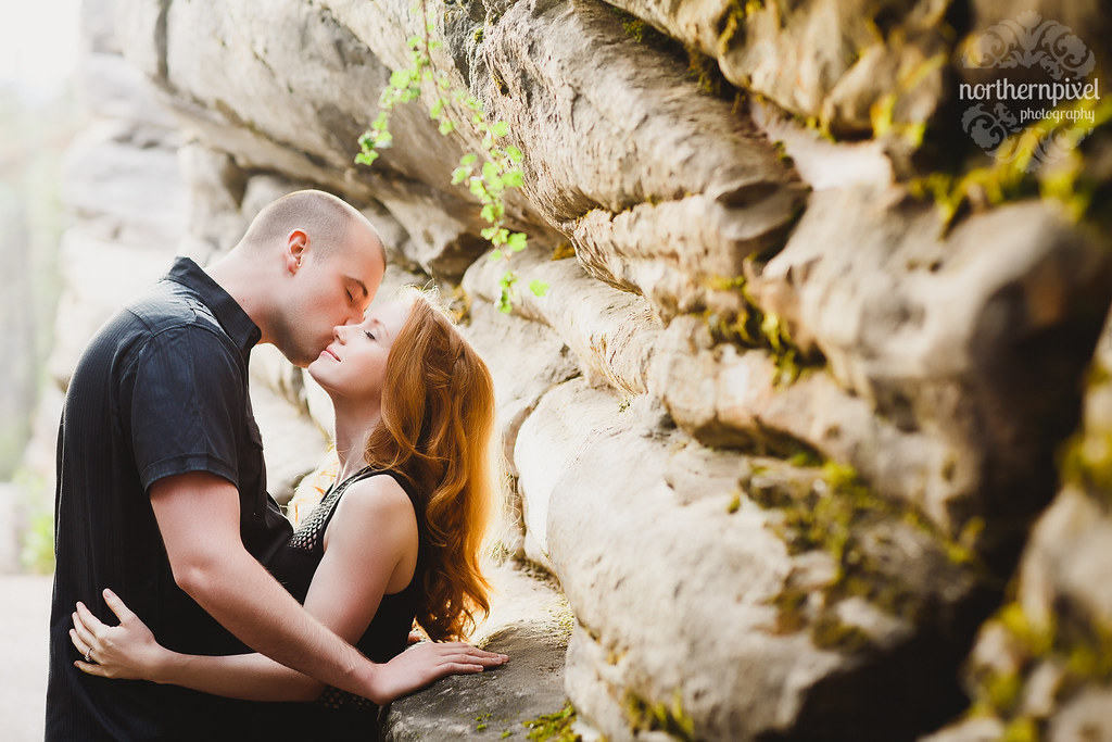 Athabasca Falls Engagement Session Wedding Elopement Jasper