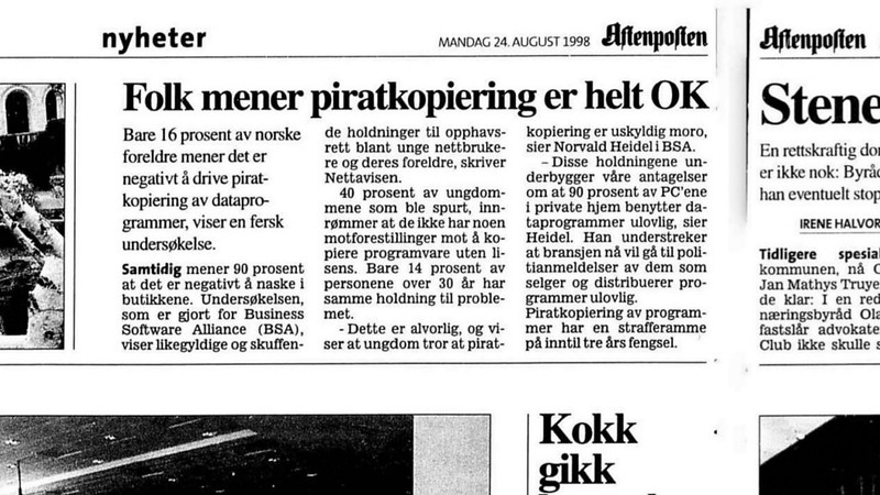 piratkopiering har vært normen i norge