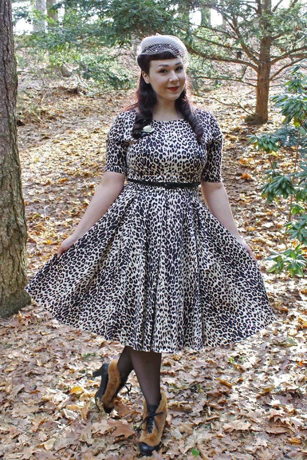 leopard dress unique vintage