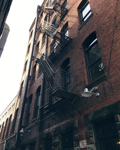The fire escapes of Pioneer Square. 💕 #pnwisbest | by NoApathyAllowed