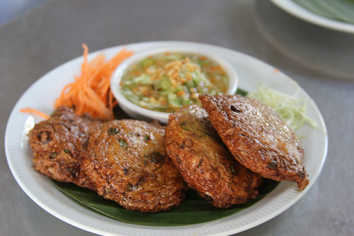 One of my favourite Thai dishes - Tort Man Pla (Thai-style Fish cakes)